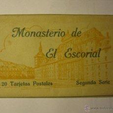 Postales: MONASTERIO DEL ESCORIAL ACORDEON 20 POSTALES HAUSER Y MENET SEGUNDA SERIE. Lote 40935007