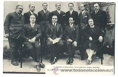 MADRID ESCUELA NACIONAL PUERICULTURA, DIRECTOR PROFESORES Y AYUDANTES DE LAS SECCIONES, SIN CIRCULAR (Postales - España - Comunidad de Madrid Antigua (hasta 1939))