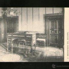 Postales: MONASTERIO DEL ESCORIAL SALITA DE MADERAS FINAS PALACIO - EDICIÓN HAUSER Y MENET - POSTAL - POSTAL. Lote 41204867