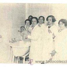 Postales: MADRID ESCUELA NACIONAL DE PUERICULTURA. ENSEÑANZA VISITADORES BAÑO. . FOTOTIPIA HAUSER Y MENET.. Lote 41217845