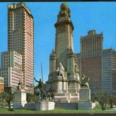 Postales: POSTAL MADRID PLAZA DE ESPAÑA MONUMENTO A CERVANTES (SIN USAR). Lote 41476038