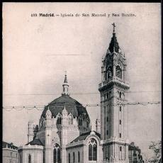 Postales: POSTAL MADRID IGLESIA DE SAN MANUEL Y SAN BENITO . LACOSTE CA AÑO 1910.. Lote 41556612