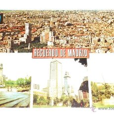 Postales: POSTAL RECUERDO DE MADRID. EDITADA 1974. Lote 41611691