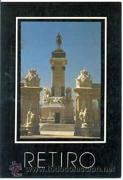 72-ESP101. POSTAL MADRID. PARQUE DEL RETIRO (Postales - España - Madrid Moderna (desde 1940))