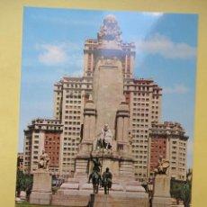 Cartes Postales: MONUMENTO A CERVANTES. PLAZA DE ESPAÑA. MADRID. ED. GARCIA GARRABELLA. Lote 41902019