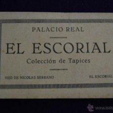 Postales: ALBUM DE 20 POSTALES PALACIO REAL. EL ESCORIAL, COLECCION DE TAPICES. HIJO DE NICOLAS SERRANO.MADRID. Lote 42029110