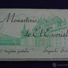 Postales: ALBUM 20 TARJETAS POSTALES. MONASTERIO DE EL ESCORIAL. SEGUNDA SERIE. HAUSER Y MENET, MADRID.. Lote 42029732