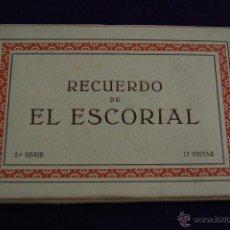 Postales: ALBUM 12 VISTAS. RECUERDO DE EL ESCORIAL. 2ª SERIE. PALOMEQUE MADRID.. Lote 42029795