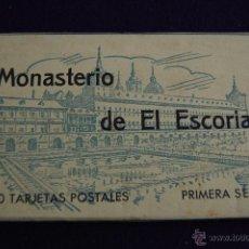 Postales: ALBUM 20 TARJETAS POSTALES. MONASTERIO DE EL ESCORIAL. PRIMERA SERIE. HAUSER Y MENET. MADRID. Lote 42029854