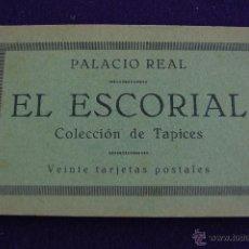 Postales: ALBUM 20 TARJETAS POSTALES. PALACIO REAL. EL ESCORIAL. COLECCION DE TAPICES. MADRID. Lote 42030439