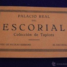 Postales: ALBUM 20 POSTALES. PALACIO REAL DEL ESCORIAL. COLECCION DE TAPICES. HIJO DE NICOLAS SERRANO. MADRID. Lote 42030667