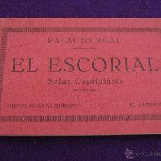 Postales: PALACIO REAL. 20 POSTALES. EL ESCORIAL. SALAS CAPITULARES. HIJO DE NICOLAS SERRANO. MADRID. Lote 42031008