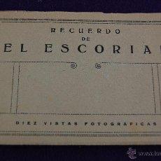 Postales: ALBUM POSTALES. 10 VISTAS FOTOGRAFICAS. RECUERDO EL ESCORIAL.PUBLICITARIO LABORATORIO BESOY. MADRID. Lote 42031335