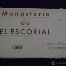 Postales: ALBUM 10 POSTALES EN HUECOGRABADO. MONASTERIO DE EL ESCORIAL. I SERIE. HAUSER Y MENET. MADRID. Lote 42031498