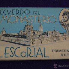 Postales: ALBUM 12 POSTALES. RECUERDO DEL MONASTERIO EL ESCORIAL. PRIMERA SERIE. MADRID. Lote 42031741