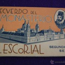 Postales: ALBUM 24 POSTALES. RECUERDO DEL MONASTERIO EL ESCORIAL. SEGUNDA SERIE. MADRID. Lote 42031801