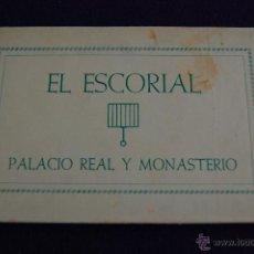 Postales: ALBUM 8 POSTALES. EL ESCORIAL. PALACIO REAL Y MONASTERIO.SERIE NUM 1. FOURNIER VITORIA. MADRID. Lote 42031943