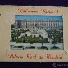 Postales: ALBUM 15 POSTALES. PATRIMONIO NACIONAL. PALACIO REAL DE MADRID. Nº1. FOTO GARCIA GARRABELLA. Lote 42057120