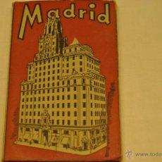 Postales: ALBUM 19 POSTALES ANTIGUAS RECUERDO DE MADRID. Lote 42089282