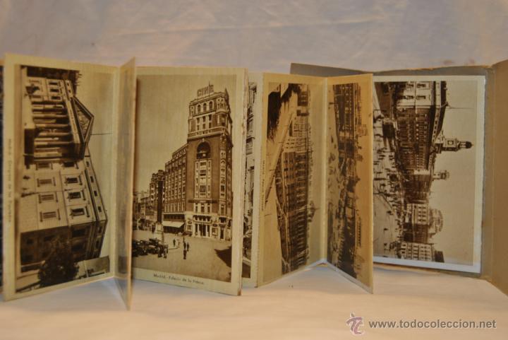 Postales: ALBUM 19 POSTALES ANTIGUAS RECUERDO DE MADRID - Foto 2 - 42089282