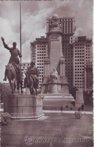 MADRID. MONUMENTO A CERVANTES. (Postales - España - Madrid Moderna (desde 1940))