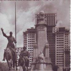 Postales: MADRID. MONUMENTO A CERVANTES.. Lote 42229230