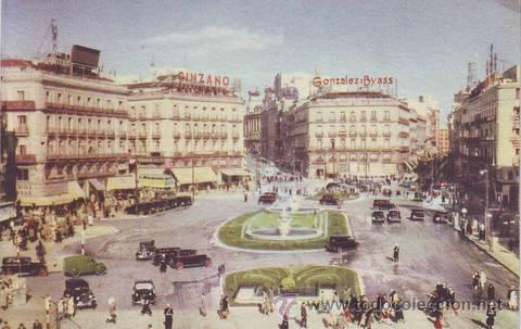 MADRID. LA PUERTA DEL SOL. FOTO LARA. (Postales - España - Madrid Moderna (desde 1940))