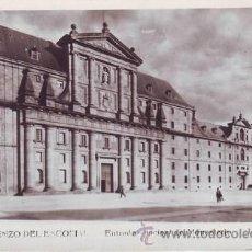 Postales: SAN LORENZO DEL ESCORIAL: ENTRADA PRINCIPAL DEL MONASTERIO. L.ROISIN FOTO.. Lote 42229358