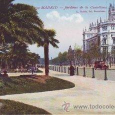 Postales: MADRID. JARDINES DE LA CASTELLANA.. Lote 42230348