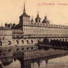 Postales: EL ESCORIAL MADRID ESTANQUE DE LA HUERTA HIJO DE NICOLÁS SERRANO SIN CIRCULAR. Lote 42235301