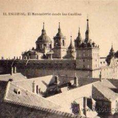 Postales: EL ESCORIAL EL MONASTERIO DESDE LAS CASILLAS HAUSER Y MENET SIN CIRCULAR. Lote 42235338
