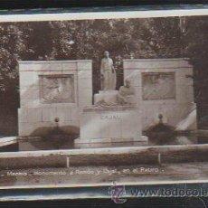 Postales: TARJETA POSTAL DE MADRID - MONUMENTO A RAMON Y CAJAL, EN EL RETIRO. 133. SGE. Lote 241311510