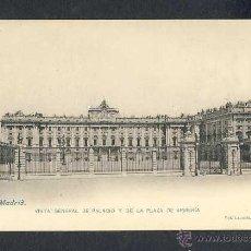 Postales: POSTAL DE MADRID: VISTA GENERAL DE PALACIO Y DE LA PLAZA DE ARMERIA (LACOSTE NUM. 17). Lote 42524488