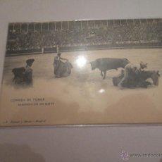 Postales: CORRIDA DE TOROS. GUERRITA EN UN QUITE. HAUSER Y MENET. MADRID. Lote 42529213
