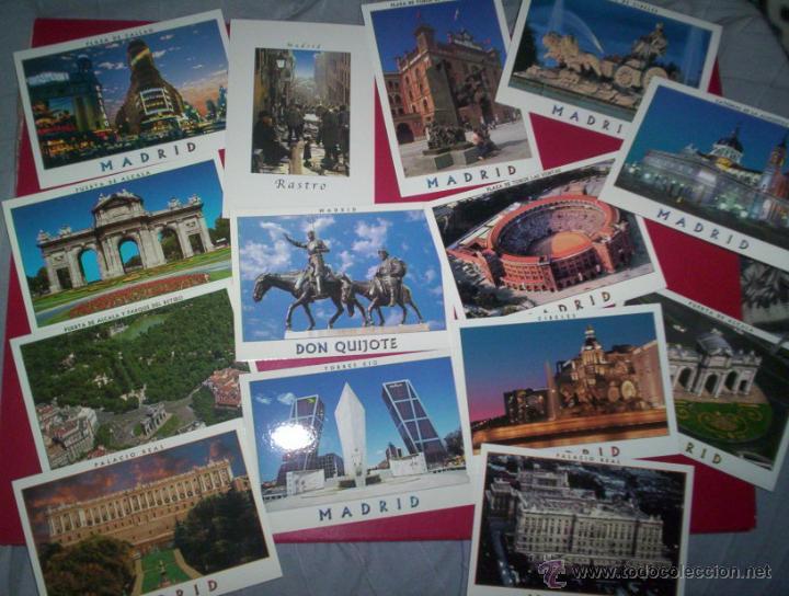 Postales: lote 32 postales modernas MADRID nuevas sin usar - Foto 2 - 192396766