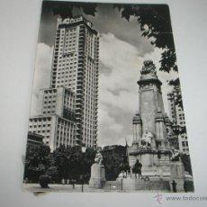 Postales: POSTAL-ESPAÑA-MADRID-PLAZA DE ESPAÑA-MONUMENTO A CERVANTES-BLANCO Y NEGRO-.. Lote 42568139