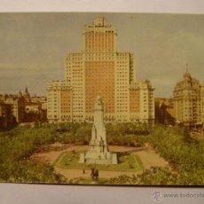 Postales: MADRID. PLAZA DE ESPAÑA. AÑOS 60. POSTAL CIRCULADA. Lote 42586330