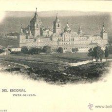 Postales: MADRID - MONASTERIO DEL ESCORIAL, VISTA GENERAL.. Lote 42646926
