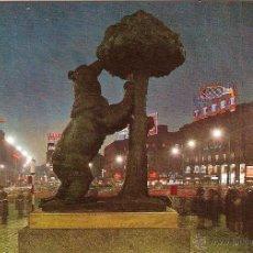 Cartoline: MADRID, PUERTA DEL SOL, MONUMENTO AL OSO Y EL MADROÑO - ESCUDO DE ORO Nº 57 - ESCRITA. Lote 42655368