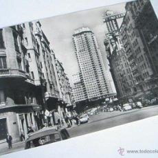 Postales: POSTAL-MADRID-AVENIDA JOSÉ ANTONIO-1958-CIRCULADA-B/N-. Lote 42792822