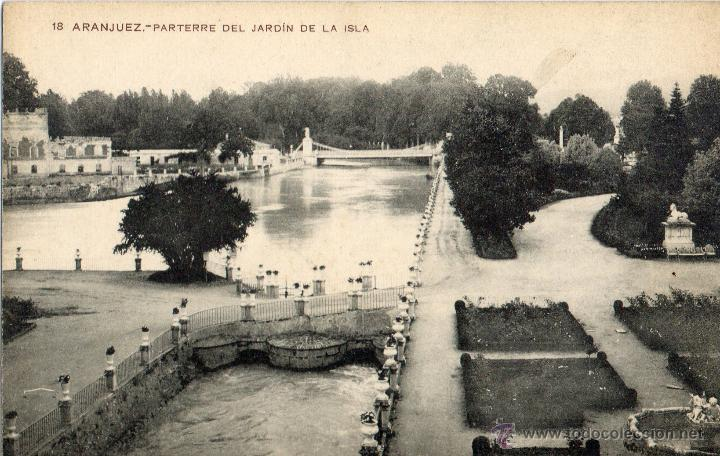 Postal antigua aranjuez parterre del jardin de comprar postales antiguas de la comunidad de - Oficina de turismo de aranjuez ...