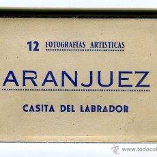 Postales: ARANJUEZ CASITA DEL LABRADOR 12 FOTOGRAFIAS ARTISTICAS MINI ACORDEON ED. HELIOTIPIA. Lote 42962138