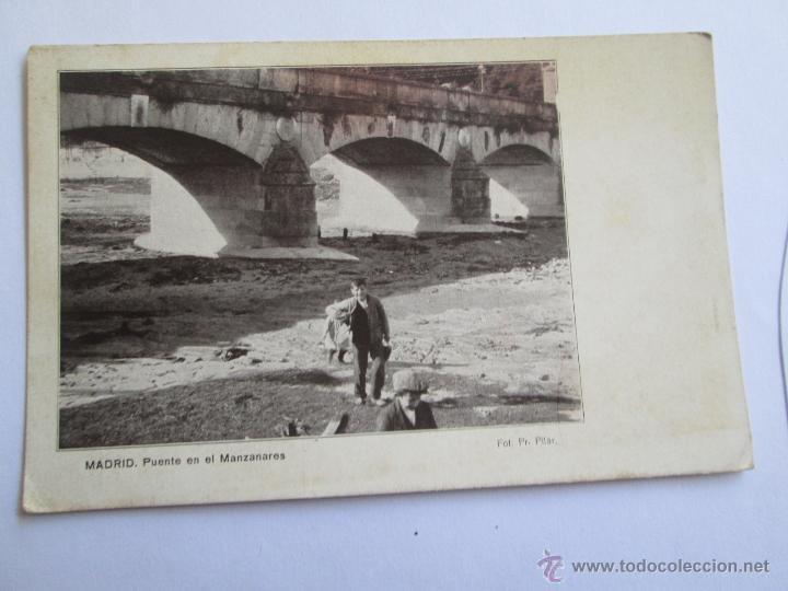 MADRID PUENTE EN EL MANZANARES FOT. PR PILAR (Postales - España - Comunidad de Madrid Antigua (hasta 1939))