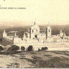 Postales: EL ESCORIAL-EL MONASTERIO DESDE EL ROMERAL-H.M.-M- SIN CIRCULAR. Lote 43174665