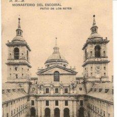 Postales: MONASTERIO DEL ESCORIAL-PATIO DE LOS REYES-H.M-M.-SIN CIRCULAR. Lote 43218948