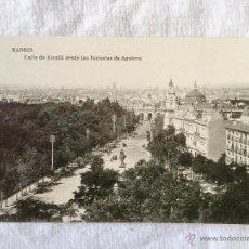 Postales: MADRID. CALLE DEL ALCALÁ DESDE LAS ESCUELAS AGUIRRE. HAUSER Y MENET.. Lote 43344756
