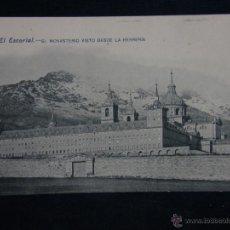 Postales: POSTAL SIN CIRCULAR 4 EL ESCORIAL EL MONASTERIO VISTO DESDE LA HERRERÍA 14 X 9 CM. Lote 43344834