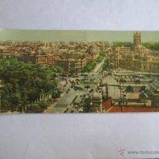 Postales: VISTA PANORAMICA DE LA CIBELES Y CALLE DE ALCALA MADRID 201. Lote 43354090