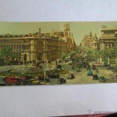 Postales: VISTA PANORAMICA DE LA CIBELES Y CALLE DE ALCALA MADRID 209. Lote 43354094