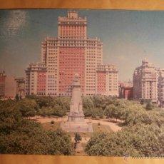 Postales: POSTAL GIGANTE - PLAZA DE ESPAÑA - MADRID - 15 X 21 CM. - P. ESPERÓN - SERIE XLI-G - SIN ESCRIBIR. Lote 43485121